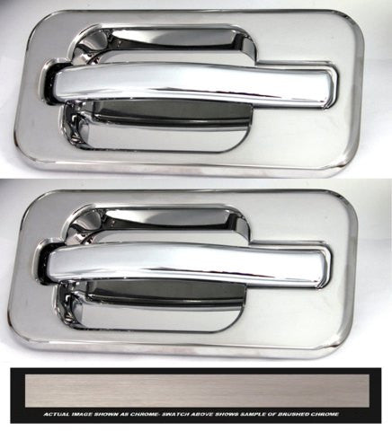 All Sales Brush Chrome LH & RH w/o Lock Rear Doors - AMI - Dropship Direct Wholesale