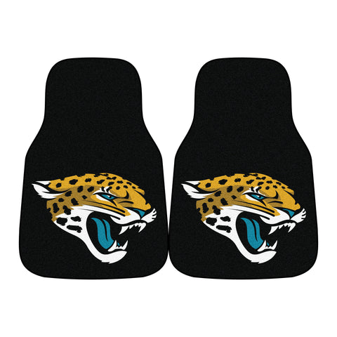 Jacksonville Jaguars 2-piece Carpeted Car Mats 17x27 - FANMATS - Dropship Direct Wholesale