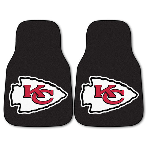 Kansas City Chiefs 2-piece Carpeted Car Mats 17x27 - FANMATS - Dropship Direct Wholesale