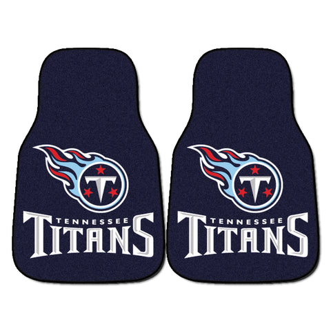 Tennessee Titans 2-piece Carpeted Car Mats 17x27 - FANMATS - Dropship Direct Wholesale