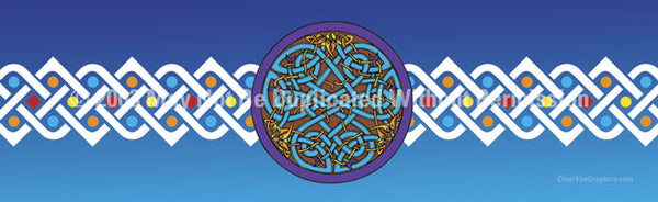 Window Graphic - 16x54 Celtic 2 - ClearVue Graphics - Dropship Direct Wholesale