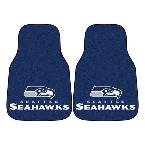 Seattle Seahawks 2-piece Carpeted Car Mats 17x27 - FANMATS - Dropship Direct Wholesale