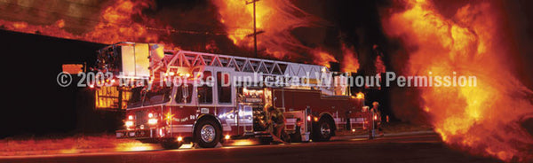 Window Graphic - 20x65 Ladder Truck - ClearVue Graphics - Dropship Direct Wholesale