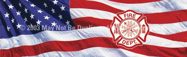 Window Graphic - 16x54 U.S. Flag Maltese Cross - ClearVue Graphics - Dropship Direct Wholesale