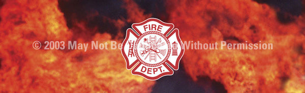 Window Graphic - 16x54 Fire Maltese - ClearVue Graphics - Dropship Direct Wholesale