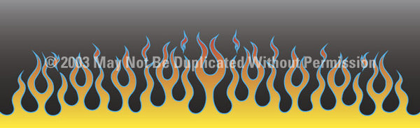 Window Graphic - 16x54 Flame Job 1 - ClearVue Graphics - Dropship Direct Wholesale