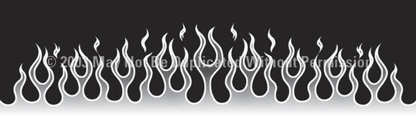 Window Graphic - 16x54 Flame Job 7 - ClearVue Graphics - Dropship Direct Wholesale