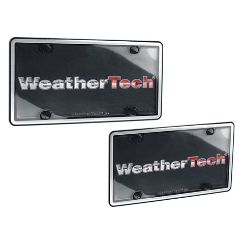 Brushed Stainless ClearCover License Plate Frame - WeatherTech - Dropship Direct Wholesale