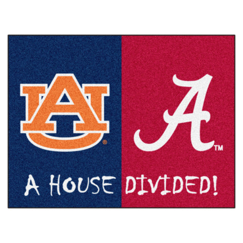 Alabama - Auburn NCAA House Divided Rugs 33.75x42.5 - FANMATS - Dropship Direct Wholesale