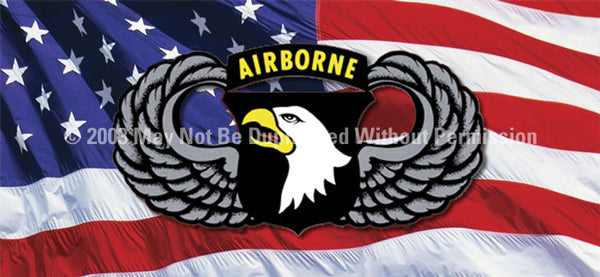 Window Graphic - 30x65 101st Airborne Wings - ClearVue Graphics - Dropship Direct Wholesale
