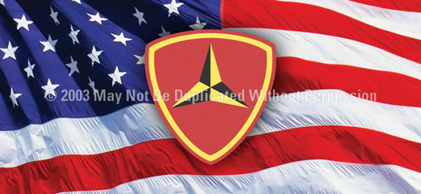 Window Graphic - 30x65 3rd Marine Division - ClearVue Graphics - Dropship Direct Wholesale