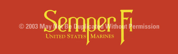 Window Graphic - 20x65 Semper Fi - ClearVue Graphics - Dropship Direct Wholesale