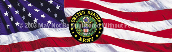 Window Graphic - 16x54 U.S. Army - ClearVue Graphics - Dropship Direct Wholesale