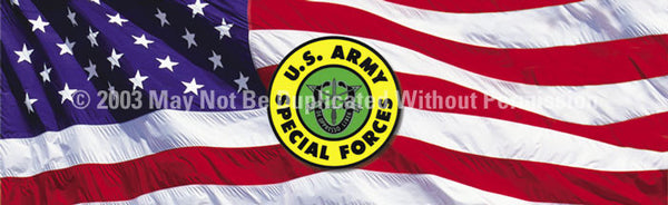 Window Graphic - 20x65 U.S. Army Special Forces 2 - ClearVue Graphics - Dropship Direct Wholesale