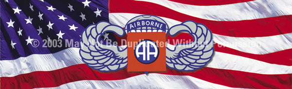 Window Graphic - 20x65 82nd Airborne - ClearVue Graphics - Dropship Direct Wholesale