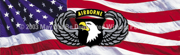 Window Graphic - 16x54 101st Airborne Wings - ClearVue Graphics - Dropship Direct Wholesale