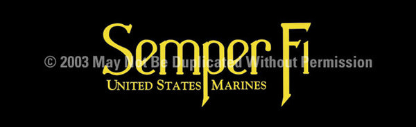 Window Graphic - 16x54 Semper Fi 3 - ClearVue Graphics - Dropship Direct Wholesale