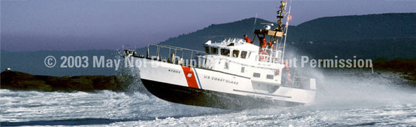 Window Graphic - 20x65 Coast Guard Lifeboat - ClearVue Graphics - Dropship Direct Wholesale
