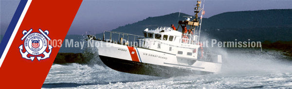 Window Graphic - 16x54 Coast Guard Lifeboat Logo - ClearVue Graphics - Dropship Direct Wholesale
