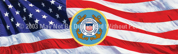 Window Graphic - 16x54 U.S. Coast Guard 3 - ClearVue Graphics - Dropship Direct Wholesale