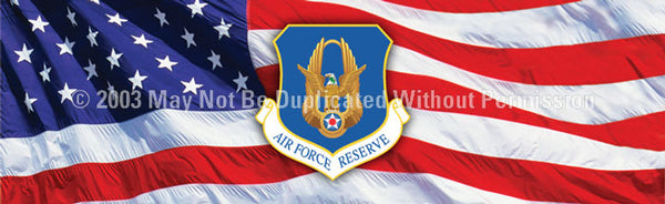 Window Graphic - 16x54 Air Force Reserve - ClearVue Graphics - Dropship Direct Wholesale