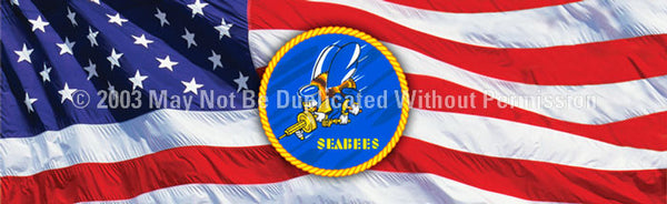 Window Graphic - 16x54 Seabees - ClearVue Graphics - Dropship Direct Wholesale