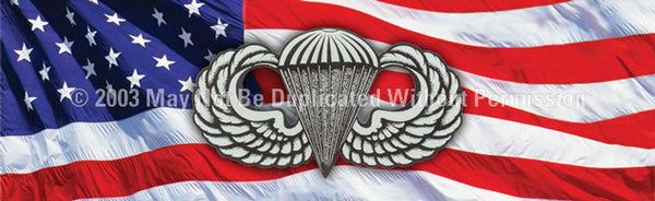 Window Graphic - 16x54 Parachutist Jump Wings - ClearVue Graphics - Dropship Direct Wholesale