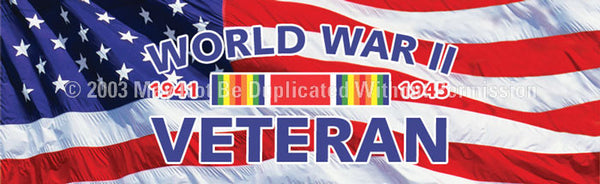Window Graphic - 20x65 World War II Veteran - ClearVue Graphics - Dropship Direct Wholesale