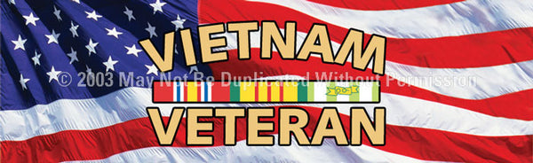 Window Graphic - 16x54 Vietnam Veteran - ClearVue Graphics - Dropship Direct Wholesale