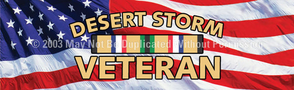 Window Graphic - 20x65 Desert Storm Veteran - ClearVue Graphics - Dropship Direct Wholesale
