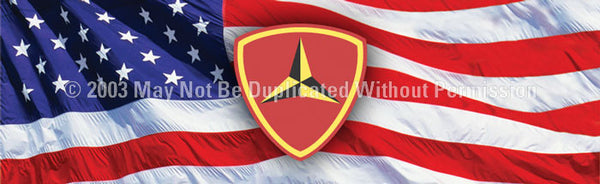 Window Graphic - 16x54 3rd Marine Division - ClearVue Graphics - Dropship Direct Wholesale