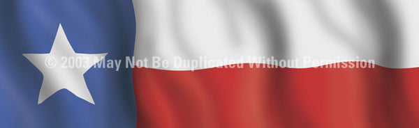 Window Graphic - 16x54 Texas Flag - ClearVue Graphics - Dropship Direct Wholesale