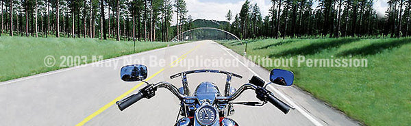 Window Graphic - 20x65 Riding in the Hills - ClearVue Graphics - Dropship Direct Wholesale