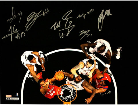 Brooklyn Nets Multi Signed Blocked Shot 16x20 Photo 8 Sigs