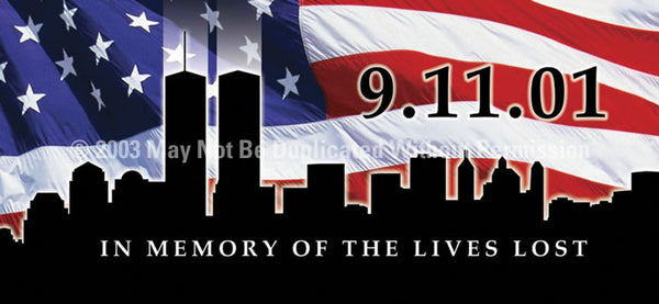 Window Graphic - 30x65 911 Memorial - ClearVue Graphics - Dropship Direct Wholesale
