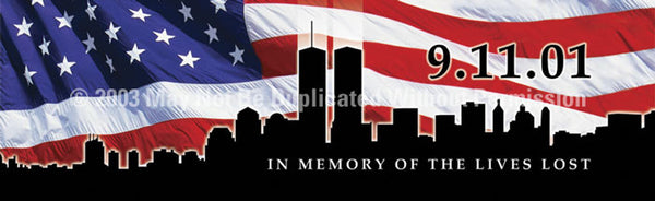 Window Graphic - 16x54 911 Memorial - ClearVue Graphics - Dropship Direct Wholesale