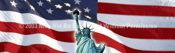 Window Graphic - 20x65 US Flag 1 with Lady Liberty - ClearVue Graphics - Dropship Direct Wholesale