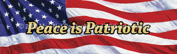 Window Graphic - 20x65 US Flag 2 Peace is Patriotic - ClearVue Graphics - Dropship Direct Wholesale