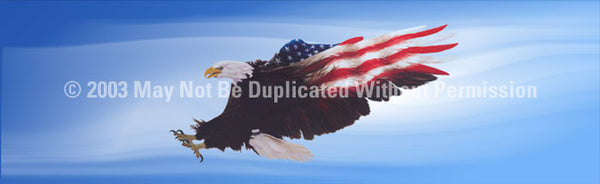 Window Graphic - 16x54 Wings of Freedom Blue - ClearVue Graphics - Dropship Direct Wholesale