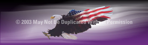 Window Graphic - 16x54 Wings of Freedom Purple - ClearVue Graphics - Dropship Direct Wholesale