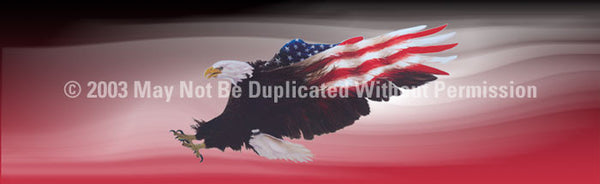 Window Graphic - 20x65 Wings of Freedom Red - ClearVue Graphics - Dropship Direct Wholesale