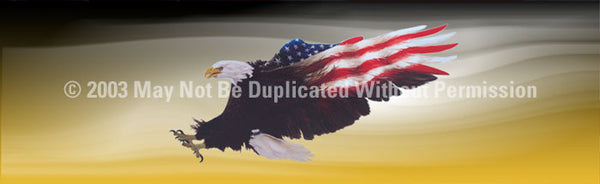 Window Graphic - 20x65 Wings of Freedom Yellow - ClearVue Graphics - Dropship Direct Wholesale