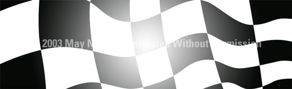Window Graphic - 16x54 Checkered Flag with Light Center - ClearVue Graphics - Dropship Direct Wholesale