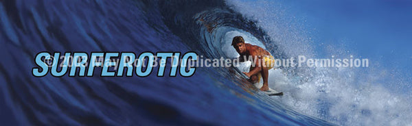 Window Graphic - 20x65 Surferotic with Text - ClearVue Graphics - Dropship Direct Wholesale