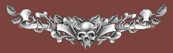 Window Graphic - 16x54 Shoulder Tattoo 3 Silver - ClearVue Graphics - Dropship Direct Wholesale