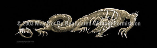 Window Graphic - 20x65 Dragon Tattoo - ClearVue Graphics - Dropship Direct Wholesale