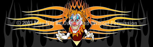Window Graphic - 20x65 Psycho Clown - ClearVue Graphics - Dropship Direct Wholesale