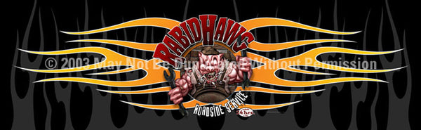 Window Graphic - 20x65 Rabid Hawg - ClearVue Graphics - Dropship Direct Wholesale