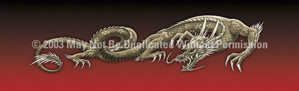 Window Graphic - 16x54 Dragon Tattoo Red - ClearVue Graphics - Dropship Direct Wholesale