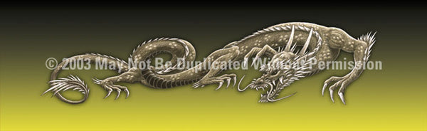 Window Graphic - 16x54 Dragon Tattoo Yellow - ClearVue Graphics - Dropship Direct Wholesale